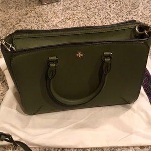 Green Tory Burch bag cross body